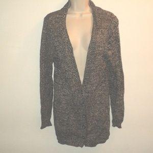 Nomadic Traders Sz L Cardigan Sweater Black, Gray